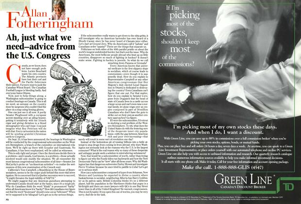 Article Preview: Ah, just what we need-advice from the U.S. Congress, September 1996 | Maclean's