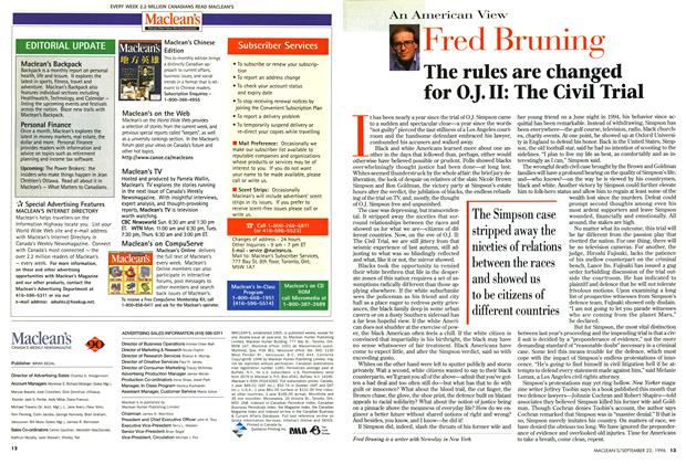 Article Preview: The rules are changed for O.J. II: The Civil Trial, September 1996 | Maclean's