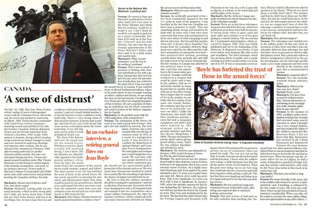 Article Preview: 'A sense of distrust', September 1996 | Maclean's