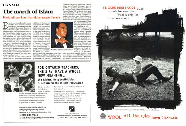 Article Preview: The march of Islam, September 1996 | Maclean's