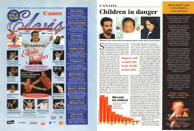 Article Preview: Children in danger, September 1996 | Maclean's