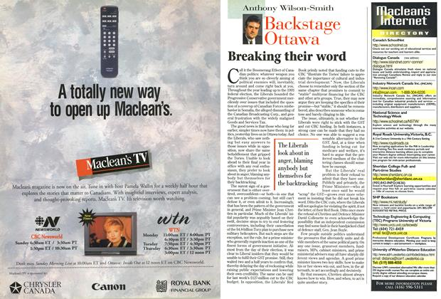 Article Preview: Breaking their word, September 1996 | Maclean's