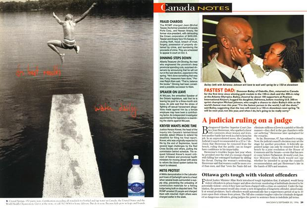 Article Preview: Canada NOTES, September 1996 | Maclean's