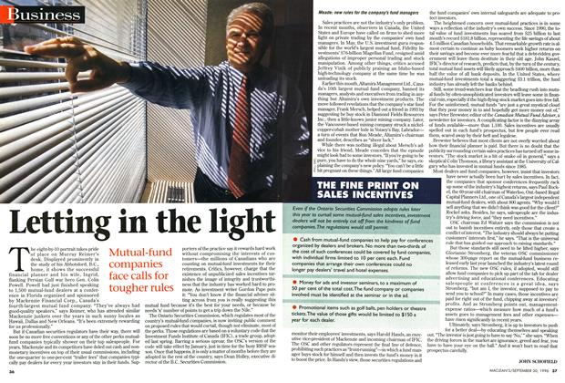 Article Preview: Letting in the light, September 1996 | Maclean's