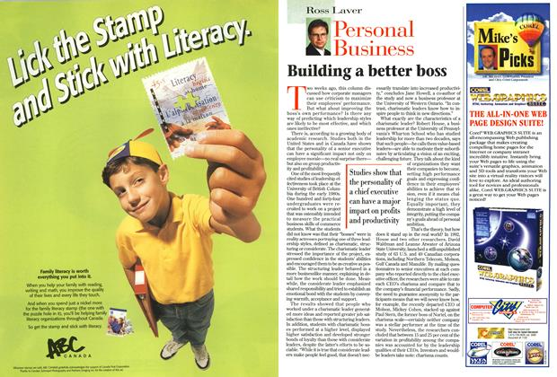 Article Preview: Building a better boss, September 1996   Maclean's