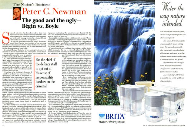 Article Preview: The good and the ugly— Bégin vs. Boyle, September 1996 | Maclean's