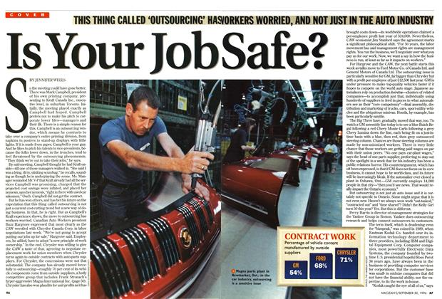 Article Preview: Is Your Job Safe, September 1996 | Maclean's