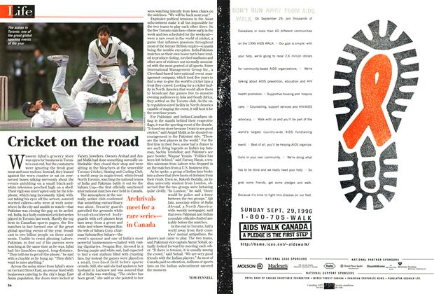 Article Preview: Cricket on the road, September 1996 | Maclean's