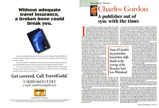 Article Preview: A publisher out of sync with the times, September 1996 | Maclean's