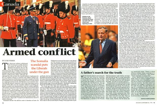 Article Preview: Armed conflict, September 1996 | Maclean's