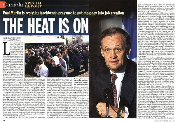 Article Preview: THE HEAT IS ON, October 1996 | Maclean's