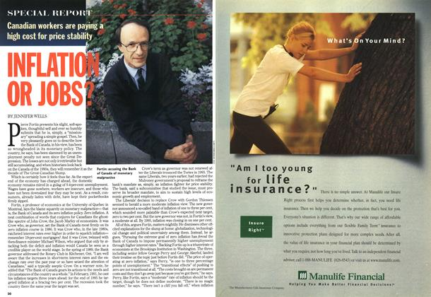 Article Preview: INFLATION OR JOBS?, October 1996 | Maclean's