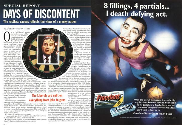 Article Preview: DAYS OF DISCONTENT, October 1996 | Maclean's