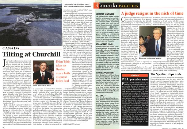 Article Preview: Tilting at Churchill, October 1996 | Maclean's