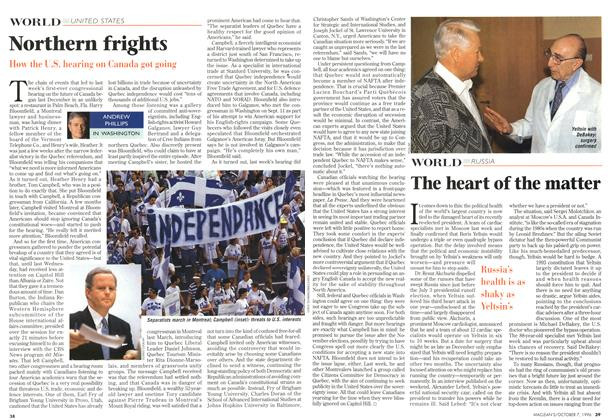 Article Preview: The heart of the matter, October 1996 | Maclean's