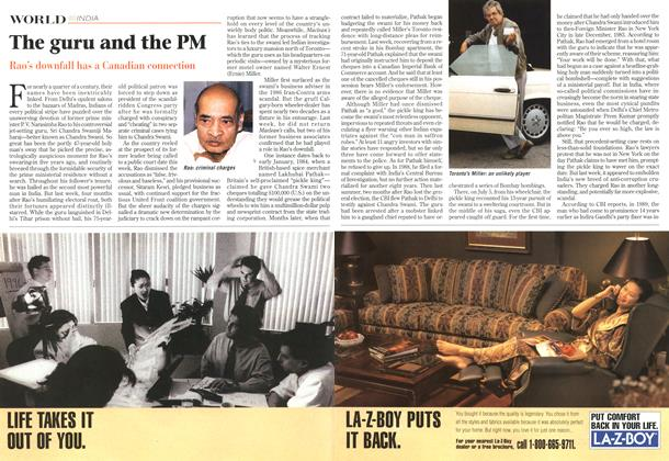 Article Preview: The guru and the PM, October 1996 | Maclean's