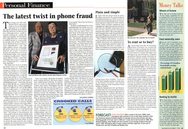 Article Preview: The latest twist in phone fraud, October 1996 | Maclean's