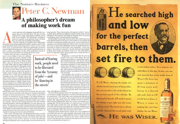 Article Preview: A philosopher's dream of making work fun, October 1996 | Maclean's