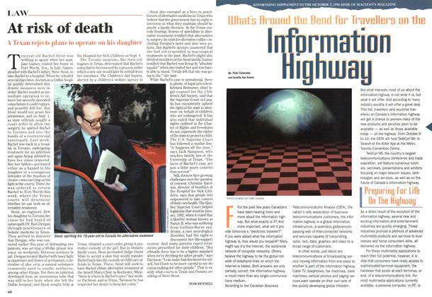 Article Preview: At risk of death, October 1996 | Maclean's