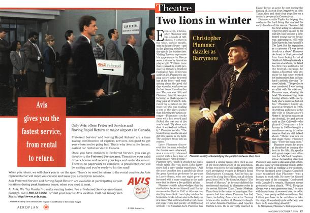 Article Preview: Two lions in winter, October 1996 | Maclean's