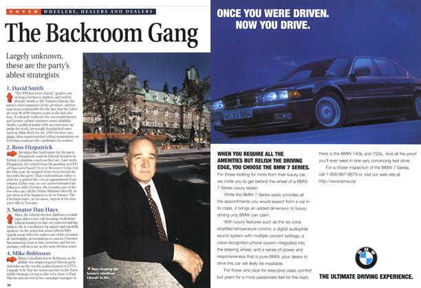 Article Preview: The Backroom Gang, October 1996 | Maclean's