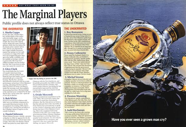 Article Preview: The Marginal Players, October 1996 | Maclean's
