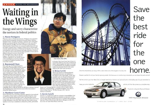 Article Preview: Waiting in the Wings, October 1996 | Maclean's