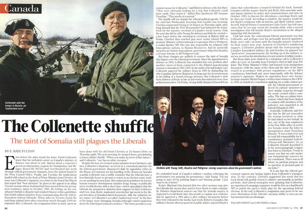 Article Preview: The Collenette shuffle, October 1996 | Maclean's