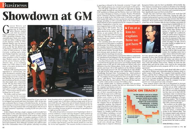 Article Preview: Showdown at GM, October 1996 | Maclean's