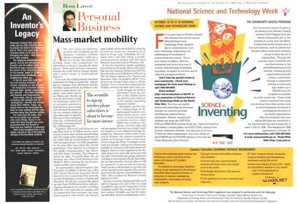 Article Preview: Mass-market mobility, October 1996 | Maclean's