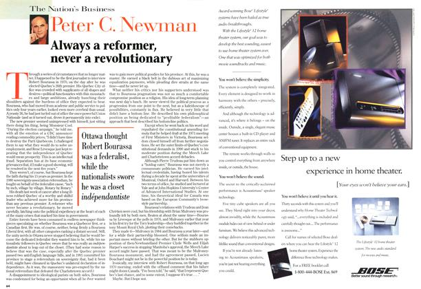 Article Preview: Always a reformer, never a revolutionary, October 1996 | Maclean's