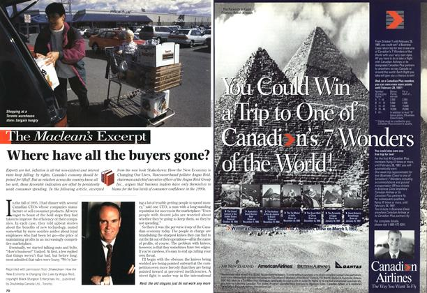 Article Preview: Where have all the buyers gone?, October 1996 | Maclean's