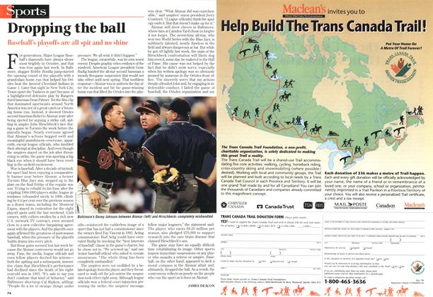 Article Preview: Dropping the ball, October 1996 | Maclean's