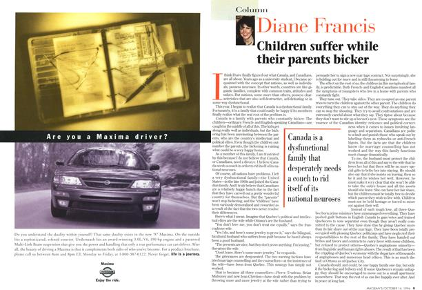 Article Preview: Children suffer while their parents bicker, October 1996 | Maclean's