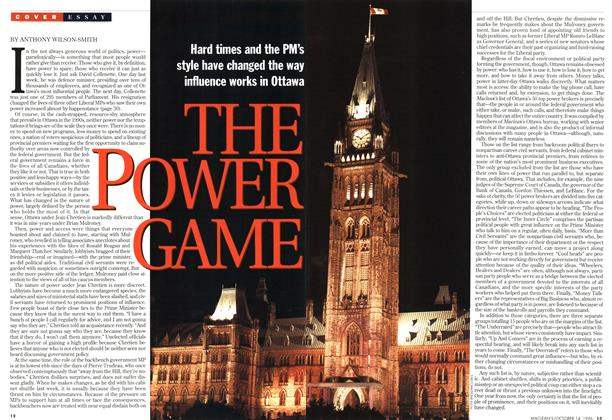 Article Preview: THE POWER GAME, October 1996 | Maclean's