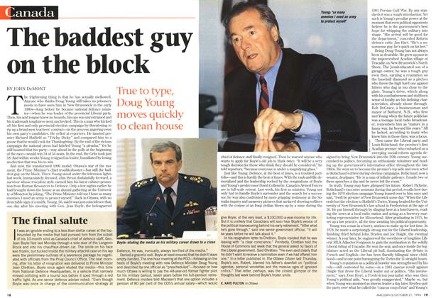 Article Preview: The baddest guy on the block, October 1996 | Maclean's