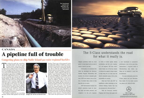 Article Preview: A pipeline full of trouble, October 1996 | Maclean's