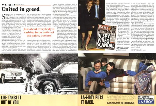 Article Preview: United in greed, October 1996   Maclean's