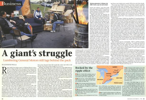Article Preview: A giant's struggle, October 1996 | Maclean's