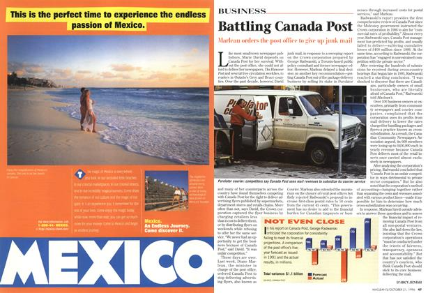 Article Preview: Battling Canada Post, October 1996 | Maclean's
