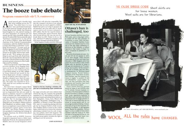 Article Preview: The booze tube debate, October 1996 | Maclean's