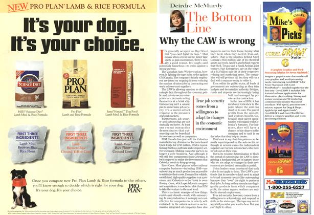 Article Preview: Why the CAW is wrong, October 1996 | Maclean's