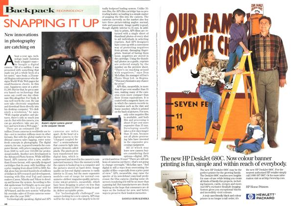 Article Preview: SNAPPING IT UP, October 1996 | Maclean's