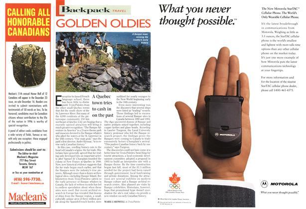 Article Preview: GOLDEN OLDIES, October 1996   Maclean's