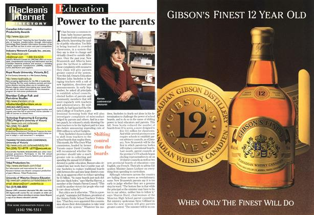 Article Preview: Power to the parents, October 1996 | Maclean's