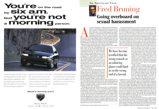 Article Preview: Going overboard on sexual harassment, October 1996 | Maclean's
