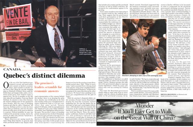 Article Preview: Quebec's distinct dilemma, OCTOBER  1996 | Maclean's