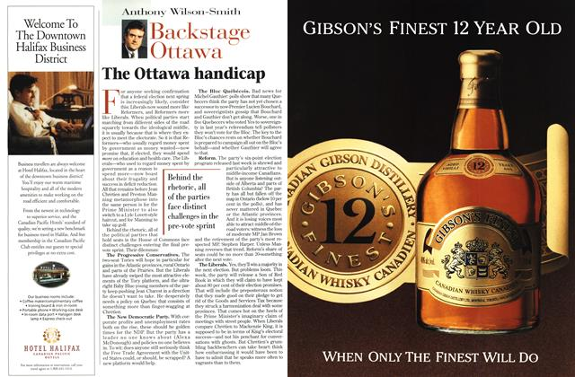 Article Preview: The Ottawa handicap, OCTOBER  1996 | Maclean's