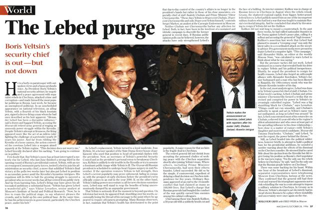 Article Preview: The purge, OCTOBER  1996 | Maclean's