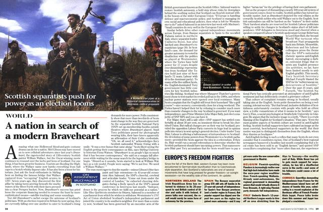 Article Preview: A nation in search of a modern Braveheart, OCTOBER  1996 | Maclean's